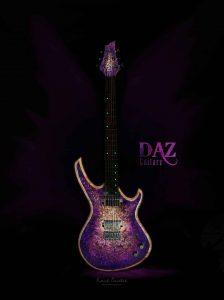 Daz Guitarz - Purple Six 2020 Purple Burl Burst