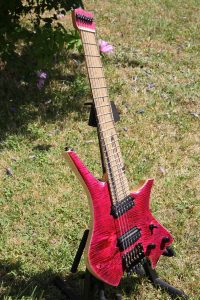 MAD Guitars No Mad 7 string fan fret Red